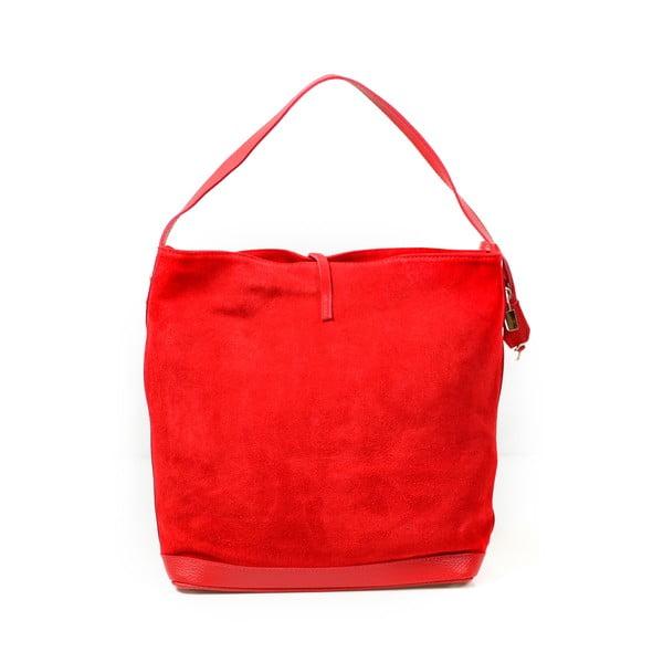 Kožená kabelka Stefie, červená