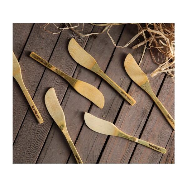 Sada 6 bambusových nožov na maslo Bambum Forre