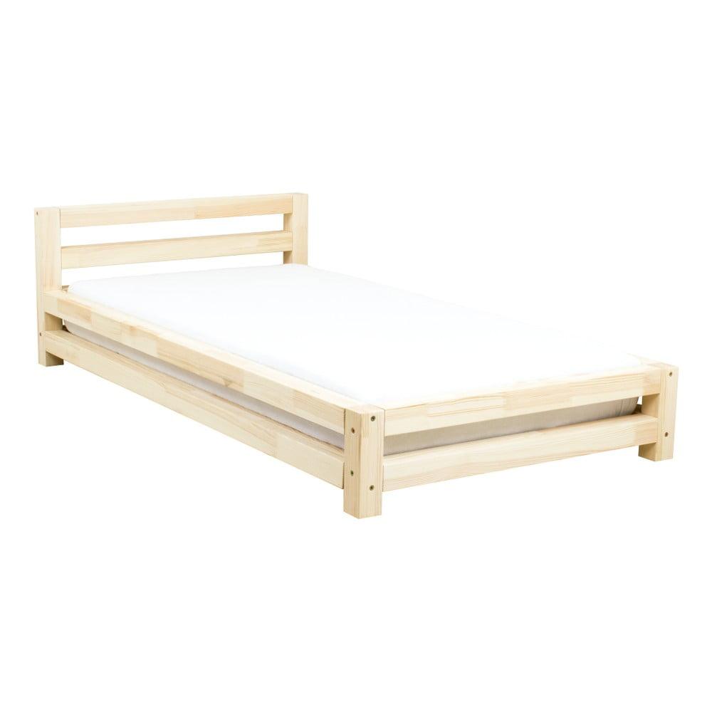 Jednolôžková lakovaná posteľ z borovicového dreva Benlemi Single, 80 × 160 cm
