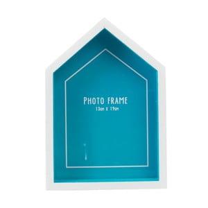 Modrý rám na fotografiu v tvare plážového domčeka Rex London Beach, 14x20cm