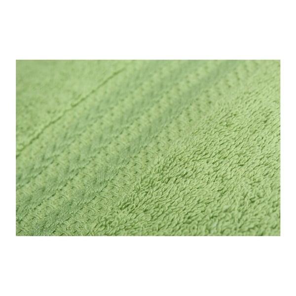 Sada 4 zelených bavlnených osušiek Rainbow, 70x140cm