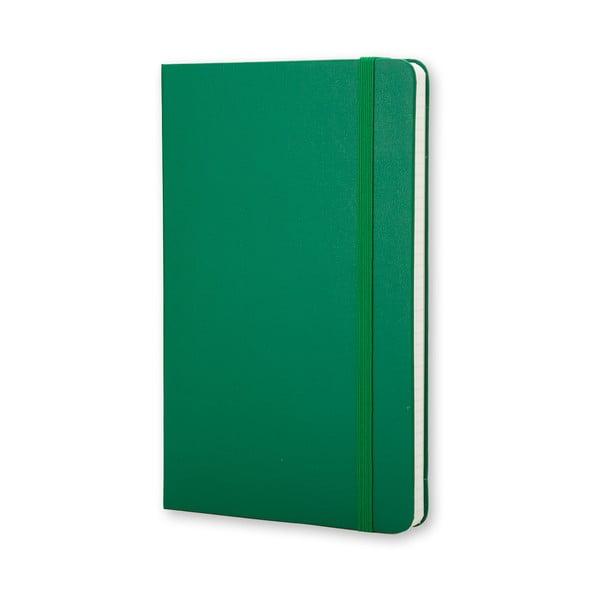 Zápisník Moleskine Hard 21x13 cm, zelený + štvorčekové stránky