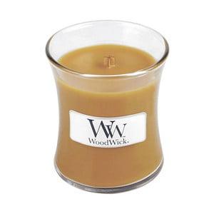 Sviečka s vôňou škorice, muškátového orieška a karamelu Woodwick Horúci punč, doba horenia 20 hodín