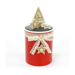 Keramický box s vianočným motívom Unimasa Tree, výška 21 cm