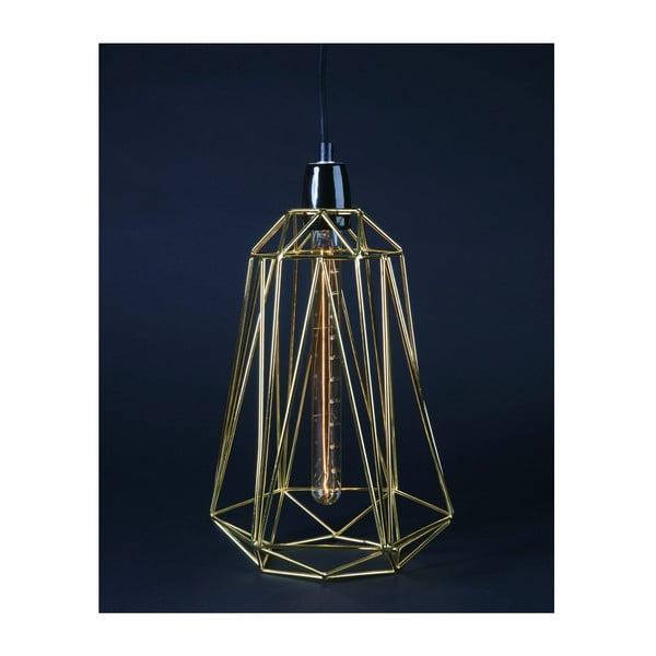 Svetlo so zlatým tienidlom a čiernym káblom Filament Style Diamond #3