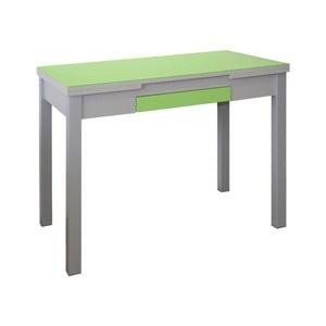 Zelený rozkladací jedálenský stôl Pondecor Roja, 60×100cm