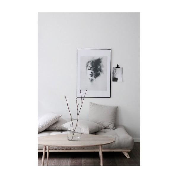 Pohovka so sivým poťahom Karup Design Senza Black/Grey