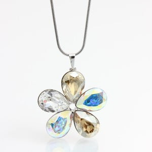 Náhrdelník Laura Bruni so Swarovski Elements Flower AB