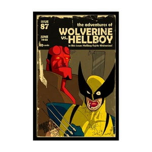 Plagát Wolverine, 35x30 cm