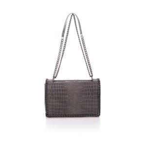 Sivá kožená kabelka Lisa Minardi Cosma