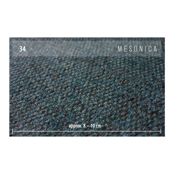 Tyrkysovomodrá rozkladacia pohovka s variabilnou leňoškou MESONICA Munro, dĺžka 308 cm