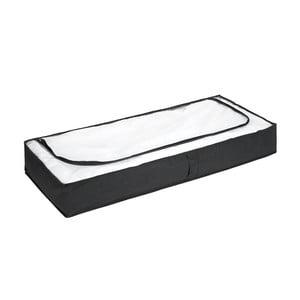 Čierny úložný box pod posteľ Wenko, 105x45cm