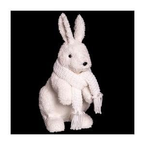 Biela vianočná dekorácia Unimasa Rabbit