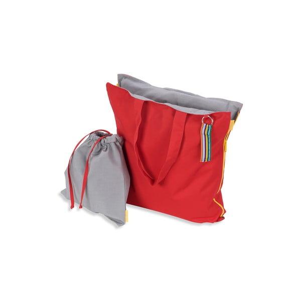 Skladací sedák Hhooboz 100x50 cm, červený