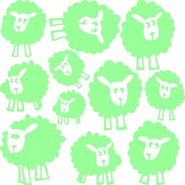 Svietiaca samolepka Fanastick Sheeps