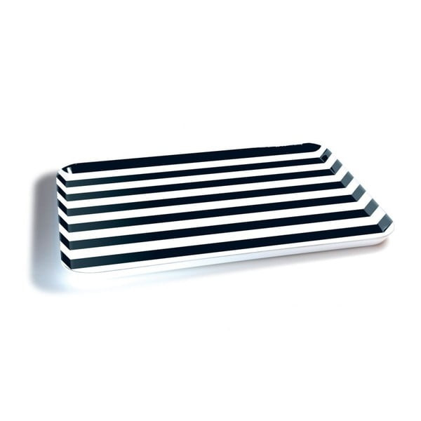 Servírovacia tácka Remember Black & White, 45×29,5 cm
