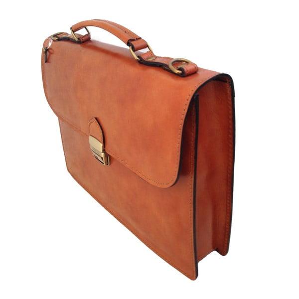 Béžová kožená taška Irene