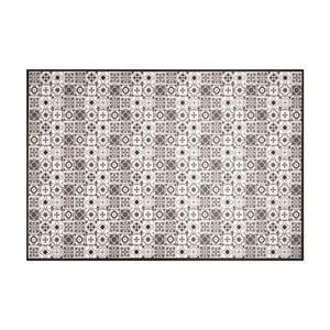 Čierno-biely vinylový koberec Zala Living Kaja, 65×100cm