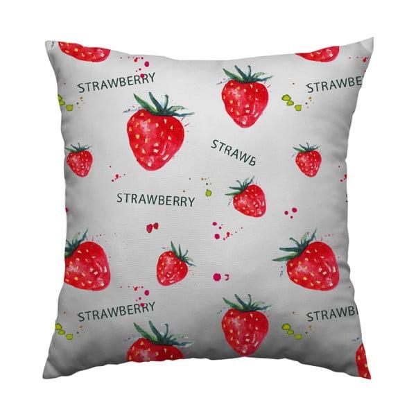 Vankúš Strawberry, 40x40 cm