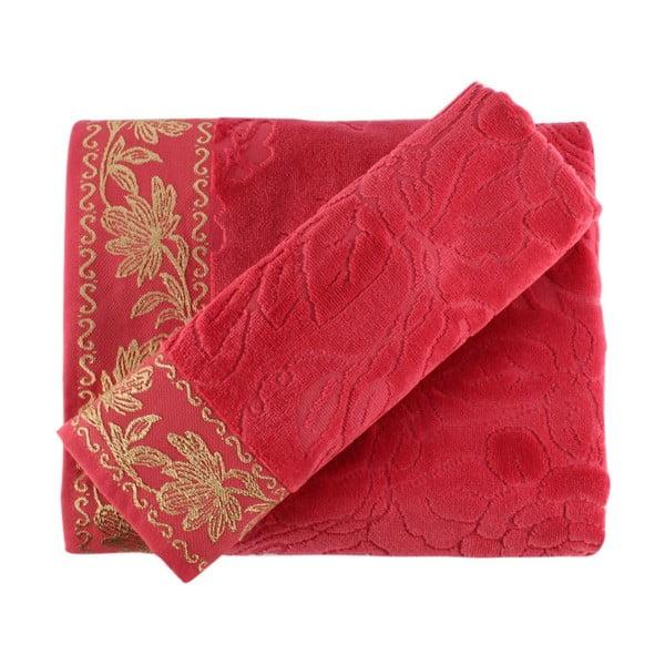 Sada ružovej osušky a uteráka Asu
