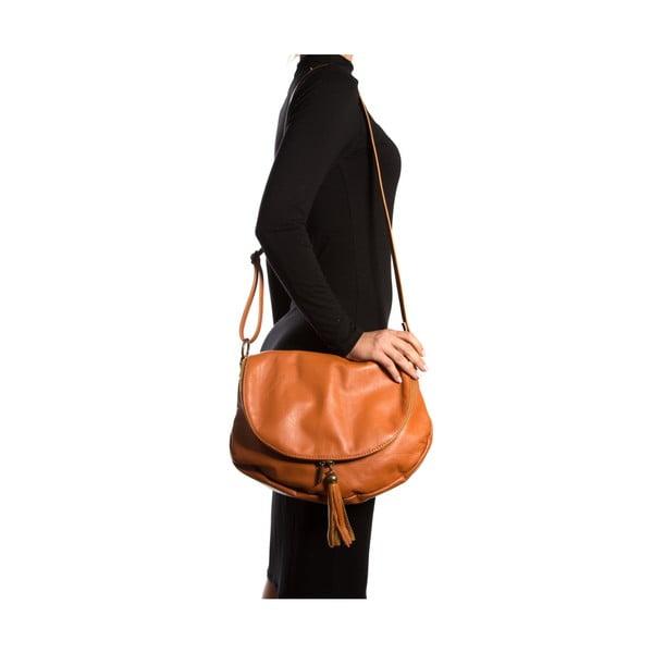 Kožená kabelka Isabella Rhea 2053 Cognac