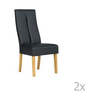 Sada 2 čiernych stoličiek SOB Tasmania