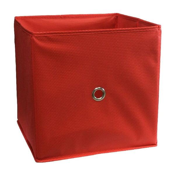 Červený úložný box Ordinett Kos