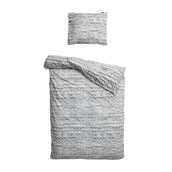 Sivé obliečky Snurk Twirre, 140 x 200 cm