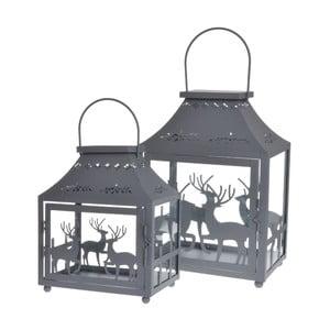 Set 2 lampášov Reindeers Grey