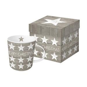 Porcelánový hrnček s vianočným motívom v darčekovom balení PPD Merry Christmas Stars, 350 ml