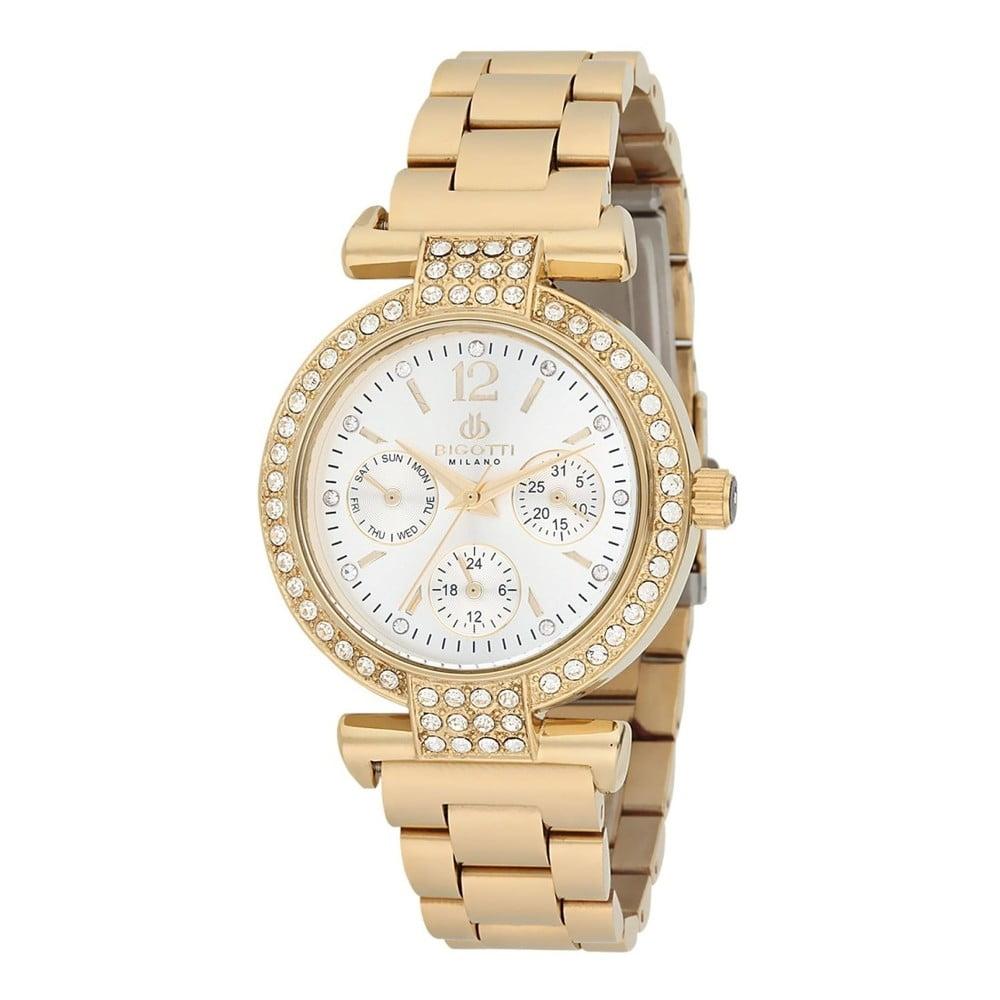 Dámske hodinky zlatej farby z antikoro ocele Bigotti Milano Sabina e609e8ef97