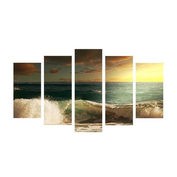 5-dielny obraz Sea Wave, 60x100 cm
