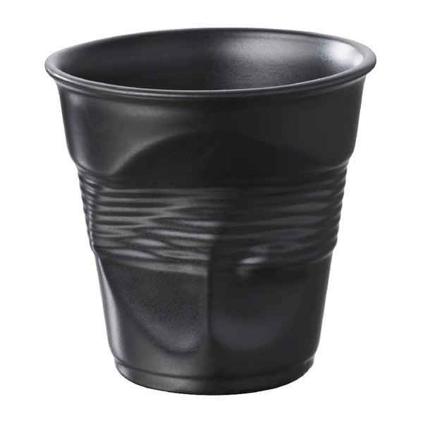 Pohárik  na cappuccino Froisses 18 cl, saténovo čierny