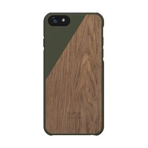 Tmavozelený obal na mobilný telefón s dreveným detailom pre iPhone 6 a 6S Plus Native Union Clic Wooden
