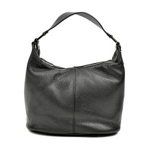 Čierna kožená kabelka Carla Ferreri Mismo Lento