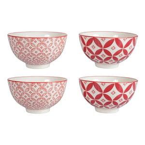 Sada 4 porcelánových misiek Rubis