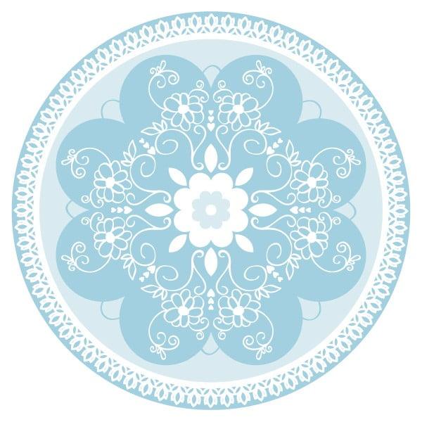 Sada 2 prestieraní Blue Ornament