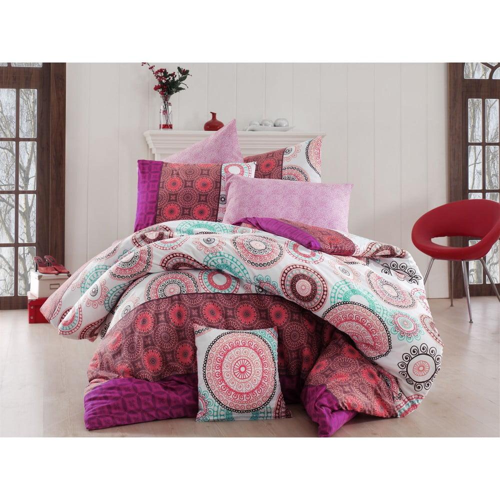 Obliečky s plachtou Ringo Pink, 200 × 220 cm