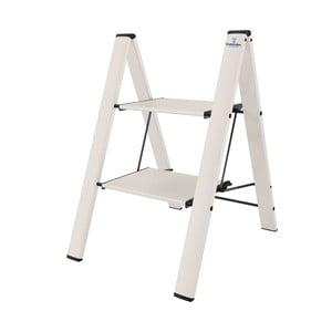 Skladací rebrík s 2 schodíky Colombo New Scal Leonardo, biely