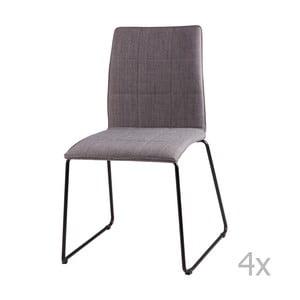 Sada 4 svetlosivých jedálenských stoličiek sømcasa Malina