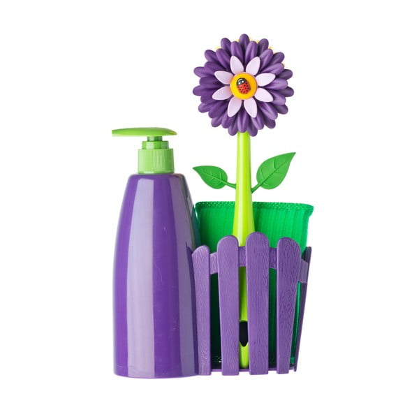 Set na umývanie riadu s dávkovačom Vigar Violet