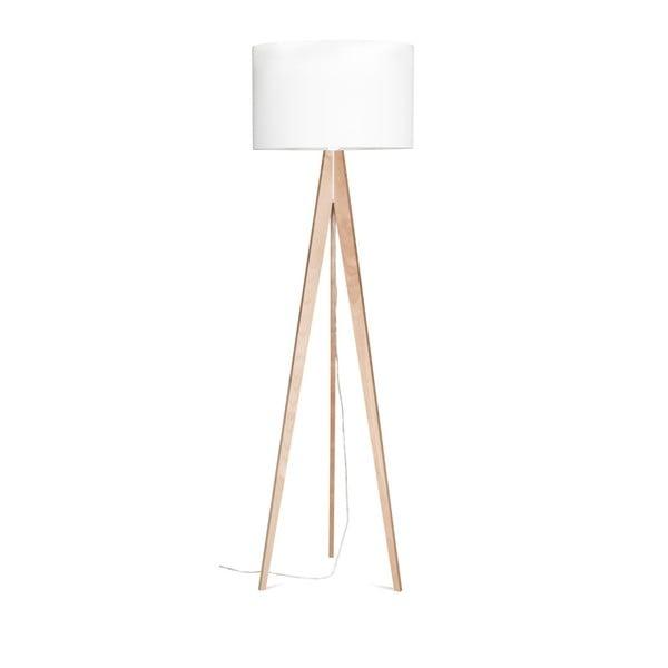 Biela stojacia lampa 4room Artista, breza, 150 cm