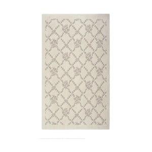 Krémový bavlnený koberec Oni, 60 × 90 cm