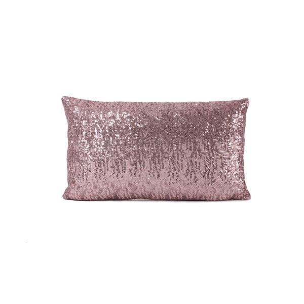 Flitrovaný vankúš Shiny Pink, 33x57 cm