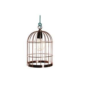 Medené závesné svietidlo Filament Style Bird Cage