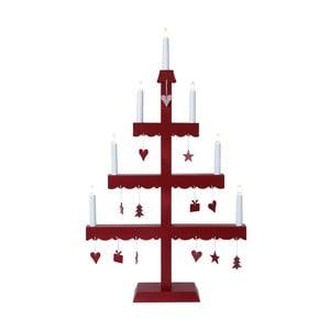 Svietnik s LED svetielkami Dingla, červený