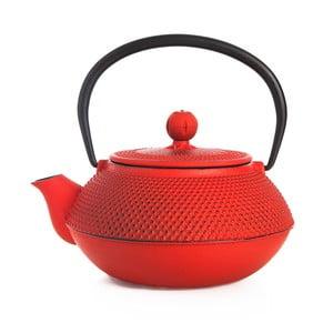 Červená liatinová čajová kanvica Bambum Taşev Linden, 800 ml