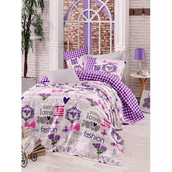 Sada prikrývky, plachty a obliečky na vankúš Love Colors Fashion, 160 x 240 cm