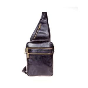 Čierny kožený batoh cez rameno Italia in Pogress Martino