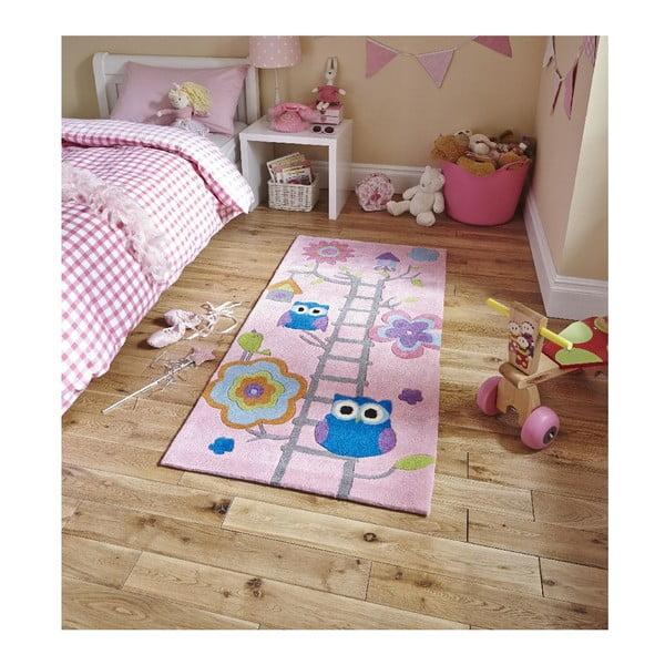 Ružový koberec Think Rugs Hong Kong Pinkie, 70x140cm